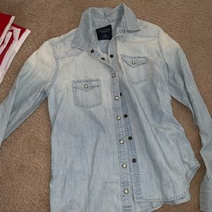 AE size small denim button down.